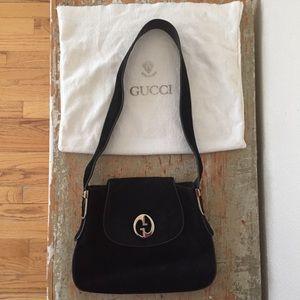 Vintage Gucci Black GG 1973 Bag